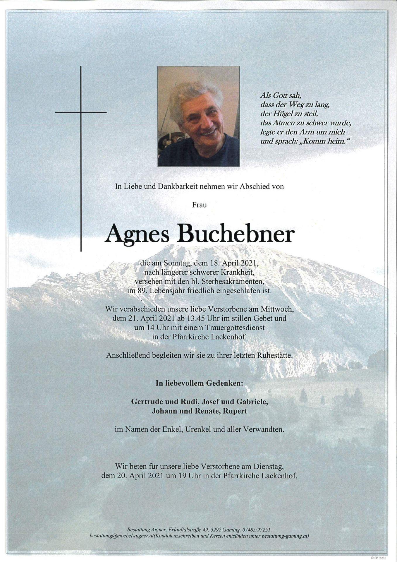Trauernachricht - Bestattung Aigner Gaming